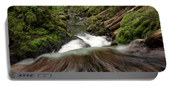Flowing Downstream Waterfall Art By Kaylyn Franks Portable Battery Charger