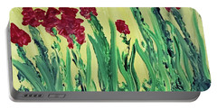 Flowing Flowers Portable Battery Charger by Karen Nicholson