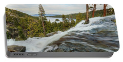 Flowing Rage Of Spring Atop Lower Eagle Falls Portable Battery Charger
