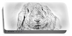 Fluffy Bunny Portable Battery Charger