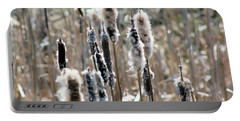 Fluffy Cattails Portable Battery Charger