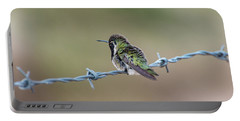 Fluffy Hummingbird Portable Battery Charger