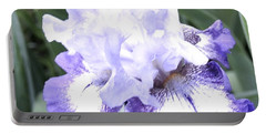 Fluffy Purple Iris Portable Battery Charger
