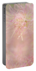 Portable Battery Charger featuring the photograph Fluffy Threads Of Smoke Tree Bloom by Jenny Rainbow