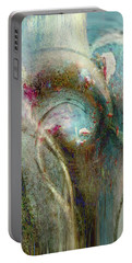 Portable Battery Charger featuring the digital art Flugufrelsarinn by Linda Sannuti