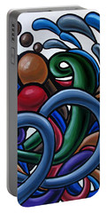 Colorful Abstract Art Painting Chromatic Water Artwork Portable Battery Charger