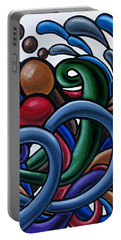 Fluid 2 - Original Abstract Art Painting - Chromatic Fluid Art Portable Battery Charger