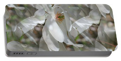 Fluttering Magnolia Petals Portable Battery Charger