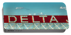 Fly Delta Jets Signage Hartsfield Jackson International Airport Art Atlanta, Georgia Art Portable Battery Charger