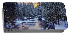 Portable Battery Charger featuring the photograph Fly Fisherman On The Metolius by Cat Connor