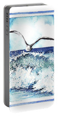 Portable Battery Charger featuring the painting Fly High by Heidi Kriel