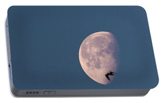 Portable Battery Charger featuring the photograph Fly Me To The Moon by Alex Lapidus