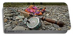 Fly Rod And Streamers Landscape Portable Battery Charger