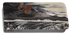 Portable Battery Charger featuring the painting Fly Through A Troubled Sky by Stanza Widen