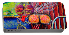 Portable Battery Charger featuring the painting fly by Viktor Lazarev
