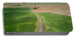 Flying Above Palouse Portable Battery Charger