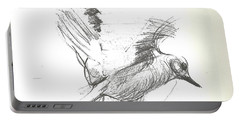 Flying Bird Sketch Portable Battery Charger