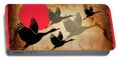 Flying Cranes Portable Battery Charger