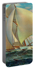 Portable Battery Charger featuring the photograph Flying Defender 1895 by Padre Art