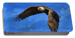 Portable Battery Charger featuring the photograph Flying Eagle by Geraldine DeBoer