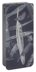 Flying Featherabstract Background Portable Battery Charger