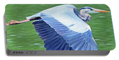 Flying Great Blue Heron Portable Battery Charger