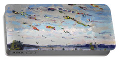 Flying Kites Over Gratwick Park Portable Battery Charger