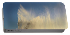 Portable Battery Charger featuring the photograph Flying Past The Water Three  by Lyle Crump