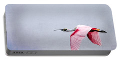 Flying Pretty - Roseate Spoonbill Portable Battery Charger