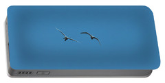 Portable Battery Charger featuring the photograph Flying Swans #g0 by Leif Sohlman
