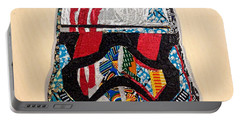 Portable Battery Charger featuring the tapestry - textile Storm Trooper Fn-2187 Helmet Star Wars Awakens Afrofuturist Collection by Apanaki Temitayo M