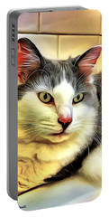 Focused Feline Portable Battery Charger