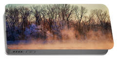 Fog And Frost On The Wisconsin River 2017-1 Portable Battery Charger