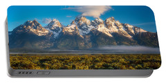 Fog At The Tetons Portable Battery Charger