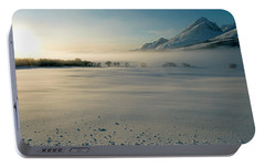 Portable Battery Charger featuring the photograph Fog In Lofoten 5 by Dubi Roman