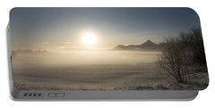 Portable Battery Charger featuring the photograph Fog In Lofoten 1 by Dubi Roman