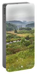 Portable Battery Charger featuring the photograph Fog In The Adirondacks by Sue Smith