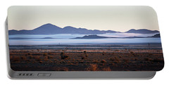 Fog In The Peloncillo Mountains Portable Battery Charger