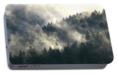 Portable Battery Charger featuring the photograph Fog Moving Through The Hills by Katie Wing Vigil