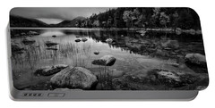 Fog On Bubble Pond Portable Battery Charger