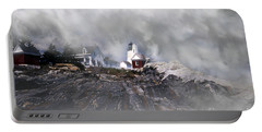 Fog On Pemaquid Point Portable Battery Charger