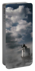 Fog On Smith Point Lighthouse  Portable Battery Charger