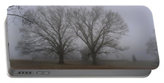 Portable Battery Charger featuring the photograph Fog On The Yorktown Battlefield by Liza Eckardt