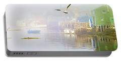 Fog Over West Dover - Digital Paint Portable Battery Charger