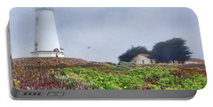 Portable Battery Charger featuring the photograph Fog - Piedras Blancas by Nikolyn McDonald