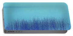 Fog Reeds Portable Battery Charger by Laurie Stewart