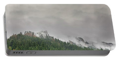 Fog Rolling Over Columbia River Gorge Portable Battery Charger