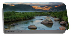 Fog Rolls In On Moraine Park And The Big Thompson River In Rocky Portable Battery Charger