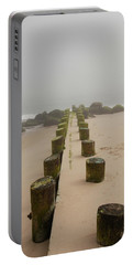 Fog Sits On Bay Head Beach - Jersey Shore Portable Battery Charger