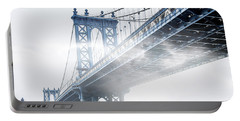 Fog Under The Manhattan Portable Battery Charger by Az Jackson